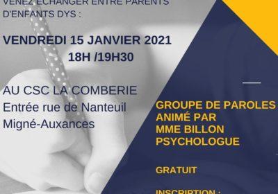 Groupe de paroles du 15/01/2021 à 18h