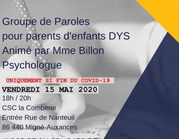 Groupe de paroles du 15/05/2020 à 18h