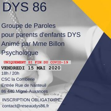 Groupe de paroles du 15/05/2020 à 18h