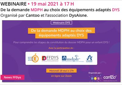 WEBINAIRE De la demande MDPH au choix des équipements adaptés DYS – 19 mai 2021